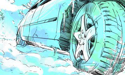 guidare auto elettrica sulla neve