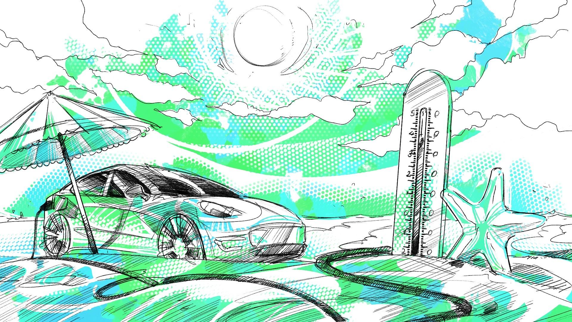 auto elettrica in estate